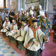 Sacro Monte di Orta Cappella XX: canonizzazione di San Francesco con la presenza di re, principi, cardinali e vescovi<br /> <br /> Sacred Mount of Orta Chapel XX: canonization of Francesco Saint. Were present princes, king, cardinals and bishops.