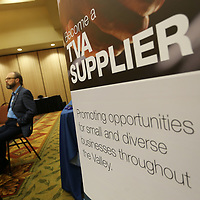 Local contractors listen to a Q&A with Brandon Presley and other officials before they can sign up to the Mississippi Supplier List Thursday afternoon.