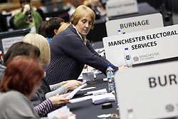 © Licensed to London News Pictures . 15/11/2012 . Manchester , UK .The count begins . By elections in Manchester Central and Ardwick and Greater Manchester Police and Crime Commissioner ( PCC ) Election counts at Manchester Central Convention Centre . Photo credit : Joel Goodman/LNP