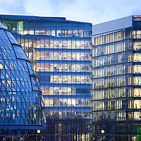 Nov/Dec 2011 - Stock photo shoot - Greenpeace Int - Transport, Travel - More London is a new development on the south bank of the River Thames, immediately south-west of Tower Bridge in London. The southern exit is on Tooley Street. - City of London - Most of an office building's energy consumption over its lifetime is in lighting,.lifts, heating, cooling and computer usage. Buildings in the City can be made.more sustainable by architecture that responds to the conditions of a site with.integrated structure and building services. Effective use of passive solar heat.and the thermal mass of the building, high insulation levels, natural daylighting.and wind power can all help to minimise fossil energy use