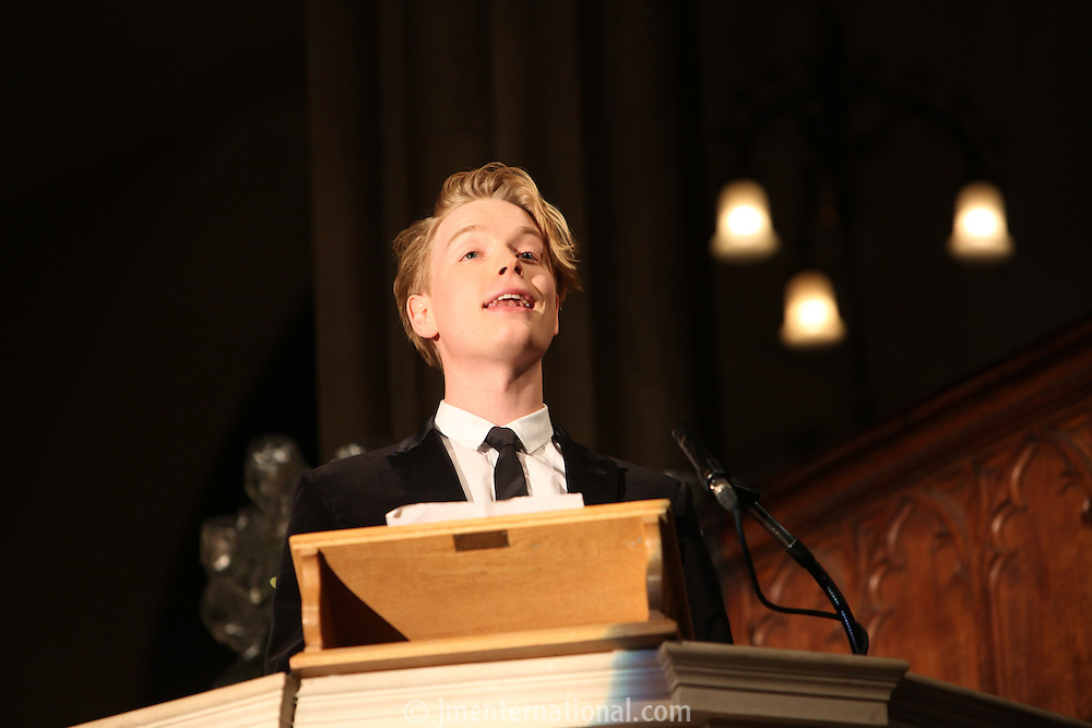 Freddie Fox, Nordoff Robbins Carol Service  2011 sponsored by Coutts. London..Wednesday, 14. Dec 2011