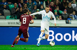 Josip Ilicic  of Slovenia during the 2020 UEFA European Championships group G qualifying match between Slovenia and Latvia at SRC Stozice on November 19, 2019 in Ljubljana, Slovenia. Photo by Vid Ponikvar / Sportida