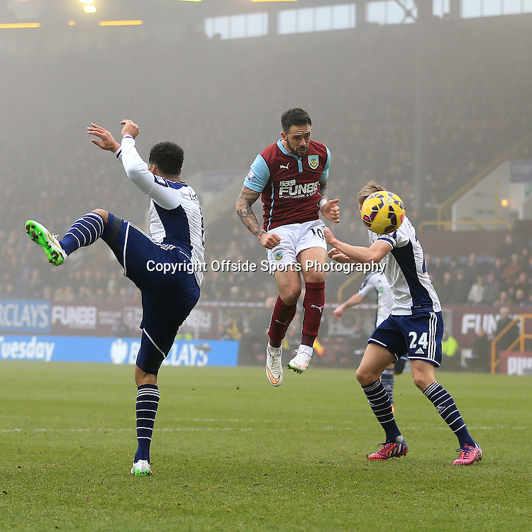 8th February 2015 - Barclays Premier League - Burnley v West Bromwich Albion - Danny Ings of Burnley scores their 2nd goal - Photo: Simon Stacpoole / Offside.