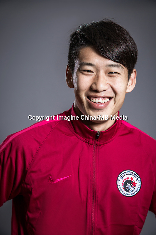 Portrait of Chinese soccer player Zhang Zhenqiang of Liaoning Whowin F.C. for the 2017 Chinese Football Association Super League, in Foshan city, south China's Guangdong province, 24 January 2017.