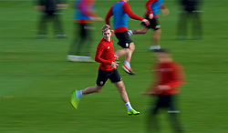 CARDIFF, WALES - Tuesday, November 13, 2018: Wales' David Brooks during a training session at the Vale Resort ahead of the UEFA Nations League Group Stage League B Group 4 match between Wales and Denmark. (Pic by David Rawcliffe/Propaganda)