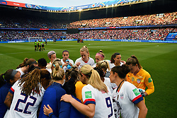June 29, 2019 - Paris, ile de france, France - USA Football Women's football team  gathered before the quarter-final between FRANCE vs USA in the 2019 women's football World cup at Parc des Princes in Paris, on the 28 June 2019. (Credit Image: © Julien Mattia/NurPhoto via ZUMA Press)