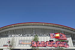 May 3, 2018 - Madrid, Spain - GENERAL VIEW of the Metropolitano stadium ahead of the UEFA Europa League, semi final, 2nd leg football match between Atletico de Madrid and Arsenal FC on May 3, 2018 at Metropolitano stadium in Madrid, Spain (Credit Image: © Manuel Blondeau via ZUMA Wire)