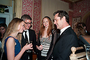 JAY JOPLING; LILY COLE; RUPERT EVERETT, Graydon Carter hosts a diner for Tom Ford to celebrate the London premiere of ' A Single Man' Harry's Bar. South Audley St. London. 1 February 2010