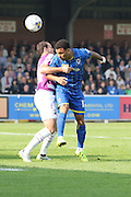 Andy Barcham of AFC Wimbledon during the Sky Bet League 2 match between AFC Wimbledon and Barnet at the Cherry Red Records Stadium, Kingston, England on 3 October 2015. Photo by Stuart Butcher.