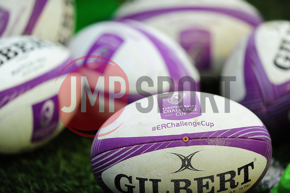 A general view of European Rugby Challenge Cup branded balls - Mandatory byline: Patrick Khachfe/JMP - 07966 386802 - 10/12/2016 - RUGBY UNION - Cardiff Arms Park - Cardiff, Wales - Cardiff Blues v Bath Rugby - European Rugby Challenge Cup.