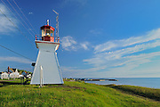 Lighthouse on the Northumberland Strait<br /> Cap-Lumiere<br /> New Brunswick<br /> Canada