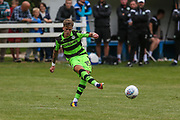 Forest Green Rovers Charlie Cooper(20) passes the ball during the Pre-Season Friendly match between Brimscombe and Thrupp and Forest Green Rovers at the Meadow, Brimscombe, United Kingdom on 15 July 2017. Photo by Shane Healey.