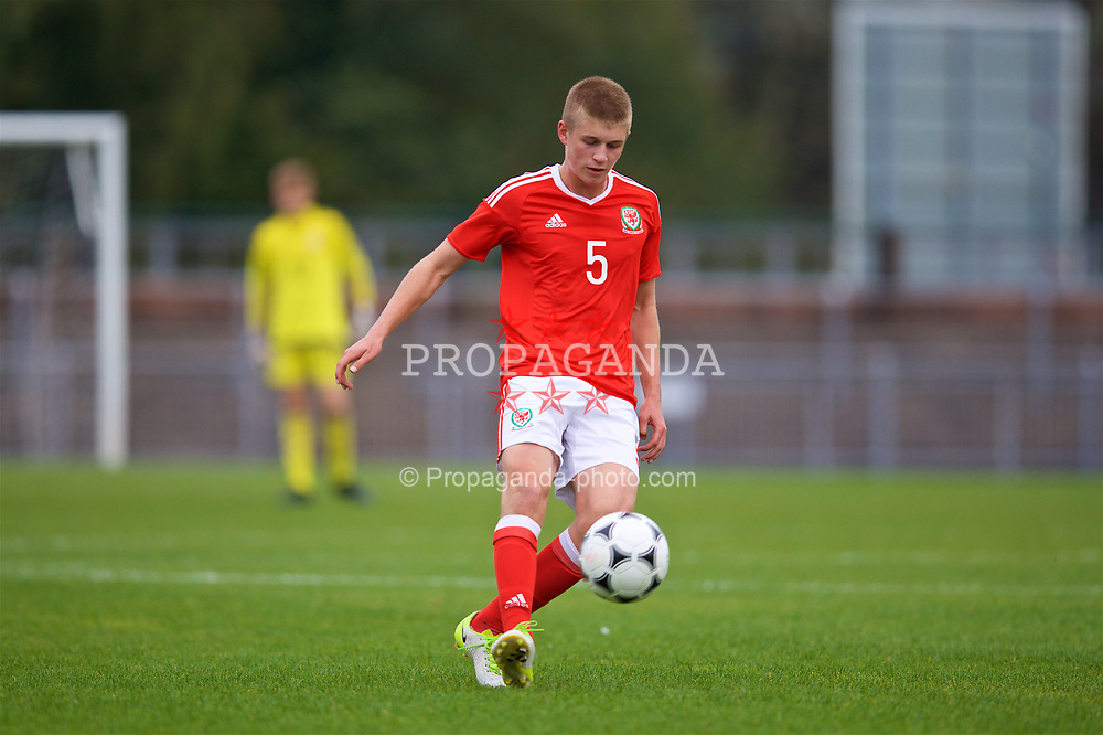 NEWPORT, WALES - Sunday, September 24, 2017: Wales' Jack Madelin during an Under-16 International friendly match between Wales and Gibraltar at the Newport Stadium. (Pic by David Rawcliffe/Propaganda)