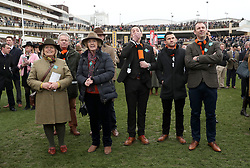 Owners (Down the quay club) of Tobefair watching the Pertemps Network Final Handicap Hurdle during St Patrick's Thursday of the 2017 Cheltenham Festival at Cheltenham Racecourse. PRESS ASSOCIATION Photo. Picture date: Thursday March 16, 2017. See PA story RACING Cheltenham. Photo credit should read: David Davies/PA Wire. RESTRICTIONS: Editorial Use only, commercial use is subject to prior permission from The Jockey Club/Cheltenham Racecourse.