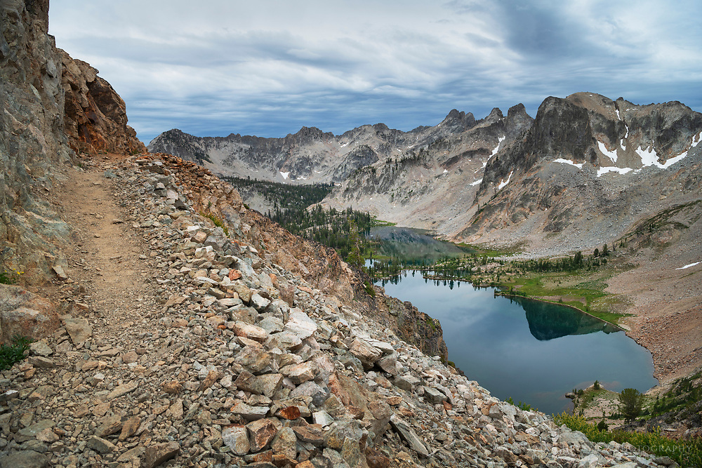 Alice-Toxaway Lakes Loop Trail at Snowyside Divide Sawtooth Mountains Idaho