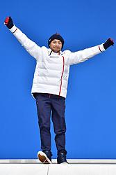 DAVIET Benjamin FRA LW2,  ParaBiathlon, Biathlon, Podium at  the PyeongChang2018 Winter Paralympic Games, South Korea.