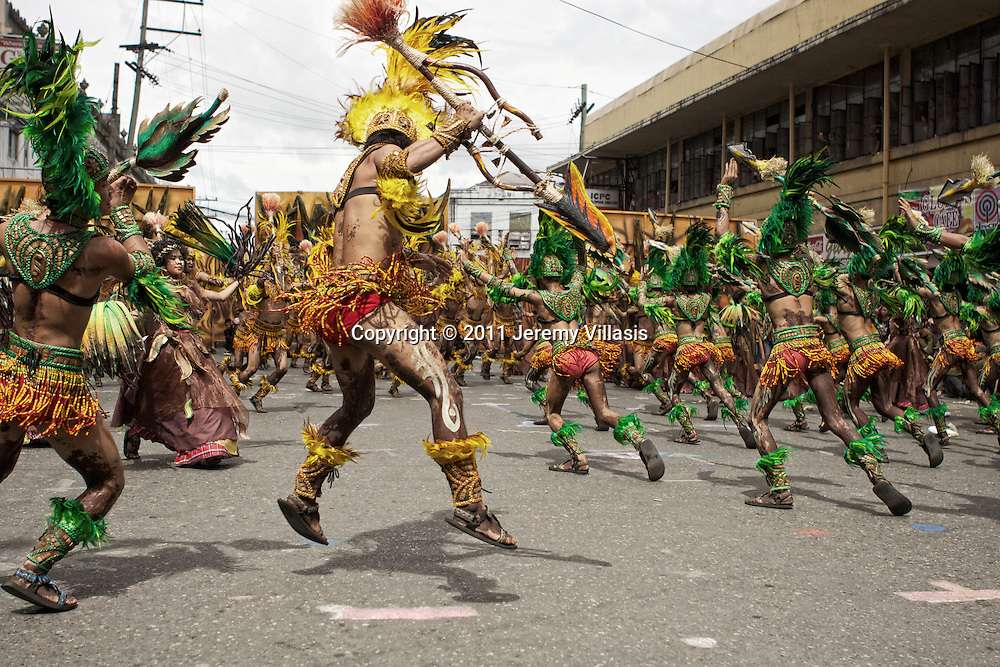 Tribu Paghidaet perform during the 2011 Dinagyang Ati-Ati competition in Iloilo City, the Philippines.
