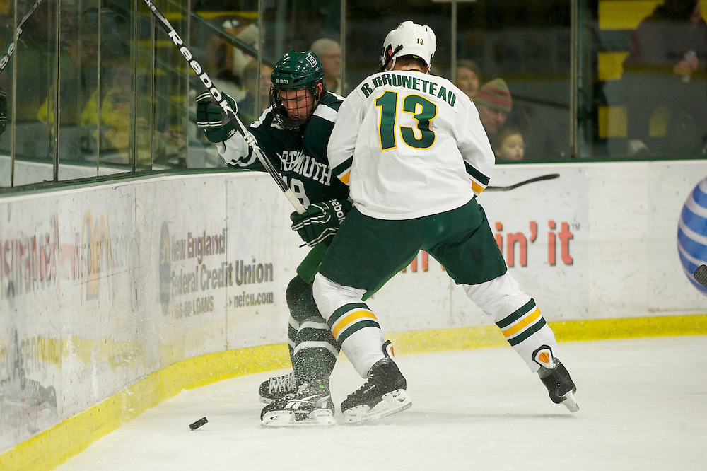The men's hockey game between the Dartmouth Big Green and the Vermont Catamounts at Gutterson Fieldhouse on Sunday afternoon November 27, 2011 in Burlington, Vermont