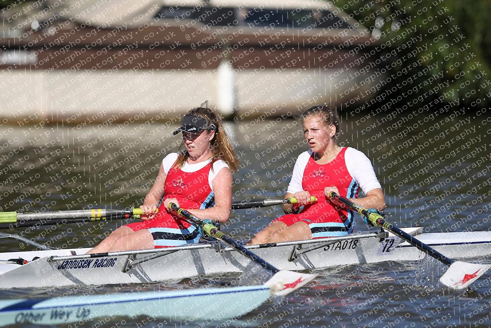 29.09.2012. Wallingford Long Distance Sculls 2012, The River Thames. Division 1. W.J16A 2x. Star Club.