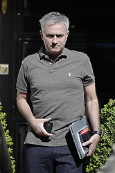 © Licensed to London News Pictures. 23/05/2016. London, UK. Jose Mourinho leaves home. Mourinho is expected to be named as Manchester United manager in the next few days. Photo credit: Peter Macdiarmid/LNP