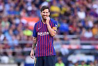 FUSSBALL  INTERNATIONAL   SAISON 2018/2019   15.08.2018 Joan Gamper Cup 2018 FC Barcelona - Boca Juniors Lionel Messi (Barca) nachdenklich