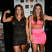 Twin sister's Lucy West and Jennifer West is a bodybuilder attends a dinner to raise funds for KIDS, a charity that supports disabled children, young people and their families at Riverbank Park Plaza on 24 November 2018, London, UK.