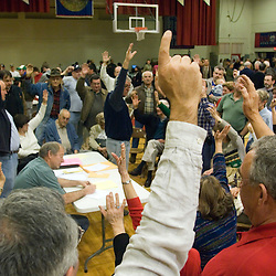 Nevada Republican caucus goers from precinct 1028 vote for delegates inside the Reno High School gym in Reno, Saturday, Jan. 19, 2008...Photo by David Calvert/Bloomberg News