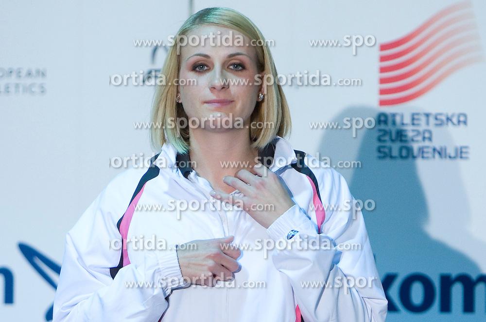 Sabina Veit at fashion show of new jerseys of Slovenian Athletic National Team, on October 28, 2008, in Mercator center Siska, Ljubljana, Slovenia. (Photo by Vid Ponikvar / Sportal Images).