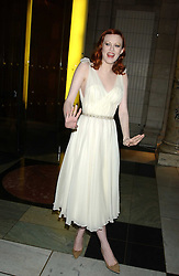 Model KAREN ELSON at the 2005 British Fashion Awards held at The V&A museum, London on 10th November 2005.<br />