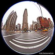 Manhattan - Fisheye Images - Flatiron Building, 23rd St/5th Avenue/Broadway