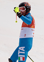 22.02.2018, Yongpyong Alpine Centre, Pyeongchang, KOR, PyeongChang 2018, Ski Alpin, Herren, Slalom, 2. Durchgang, im Bild Manfred Moelgg (ITA) // Manfred Moelgg of Italy during the men's 2st run Slalom race of the Pyeongchang 2018 Winter Olympic Games at the Yongpyong Alpine Centre in Pyeongchang, South Korea on 2018/02/22. EXPA Pictures © 2018, PhotoCredit: EXPA/ Johann Groder