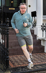 © Licensed to London News Pictures. 05/02/2018. London, UK. Environment Sectetary Michael Gove runs from his west London home. Later Brexit Secretary David Davis will meet with European Commission's Chief Negotiator Michel Barnier in Downing Street for talks. Photo credit: Peter Macdiarmid/LNP