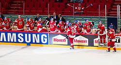 03.05.2013, Globe Arena, Stockholm, SWE, IIHF, Eishockey WM, Tschechische Republik vs Weissrussland, im Bild (CZE) cheers, (CZE) 93 Jakub Voracek, (CZE) 17 Radim Vrbata jubel // during the IIHF Icehockey World Championship Game between Czech Republic and Belarus at the Ericsson Globe, Stockholm, Sweden on 2013/05/03. EXPA Pictures © 2013, PhotoCredit: EXPA/ PicAgency Skycam/ Johan Andersson..***** ATTENTION - OUT OF SWE *****