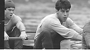 London. Great Britain.  <br /> <br /> 14.02.1987. GBR M8+, [Super Eight] training for the Head of the River Race.<br /> left. John MAXEY and John GARRETT,  <br /> <br /> [Mandatory Credit, Peter Spurrier/ Intersport Images]. 19870214 GBR Super Eight for the HORR