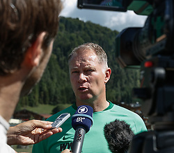 21.07.2015, Trainingsplatz, Walchsee, AUT, FC Augsburg, Trainingslager, im Bild Stefan Reuter (Geschaeftsfuehrer Sport FC Augsburg), Medienrunde auf dem Trainingsplatz, // during a training session of the German Bundesliga Club FC Augsburg at the Trainingsplatz in Walchsee, Austria on 2015/07/21. EXPA Pictures © 2015, PhotoCredit: EXPA/ Eibner-Pressefoto/ Krieger<br /> <br /> *****ATTENTION - OUT of GER*****