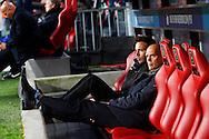 09-04-2016 VOETBAL:PSV:WILLEM II:EINDHOVEN<br /> Trainer/Coach Jurgen Streppel van Willem II en Gijs van der Bom van Willem II <br /> <br /> Foto: Geert van Erven