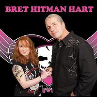 BRET HART, HITMAN, WWE, WWF LEGEND PINK AND BLACK TOUR UK 2014