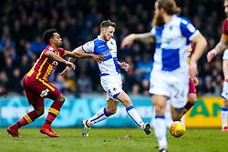 Ollie Clarke of Bristol Rovers is challenged by Tyrell Robinson of Bradford City - Rogan/JMP - 20/01/2018 - FOOTBALL - Memorial Stadium - Bristol, England - Bristol Rovers v Bradford City - EFL Sky Bet League One.