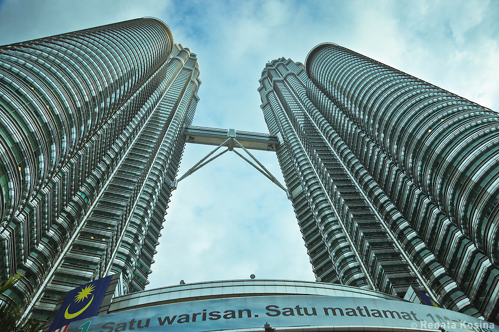 Petronas Twin Towers in Kuala Lumpur, Malaysia are one of the world's tallest buildings. Most of the 88 floors are offices, but it is also a home to the Malaysian Philharmonic Orchestra and a shopping mall.