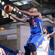 Westchester Knicks Forward Darnell Jackson (45) drives towards the basket in the second half of a NBA D-league regular season basketball game between the Delaware 87ers and the Westchester Knicks (New York Knicks) Wednesday, Feb. 17, 2015 at The Bob Carpenter Sports Convocation Center in Newark, DEL