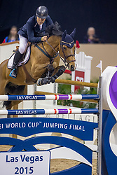 Gulliksen Geir, NOR, Edesa S Banjan<br /> World Cup Final Jumping - Las Vegas 2015<br /> © Hippo Foto - Dirk Caremans<br /> 17/04/2015