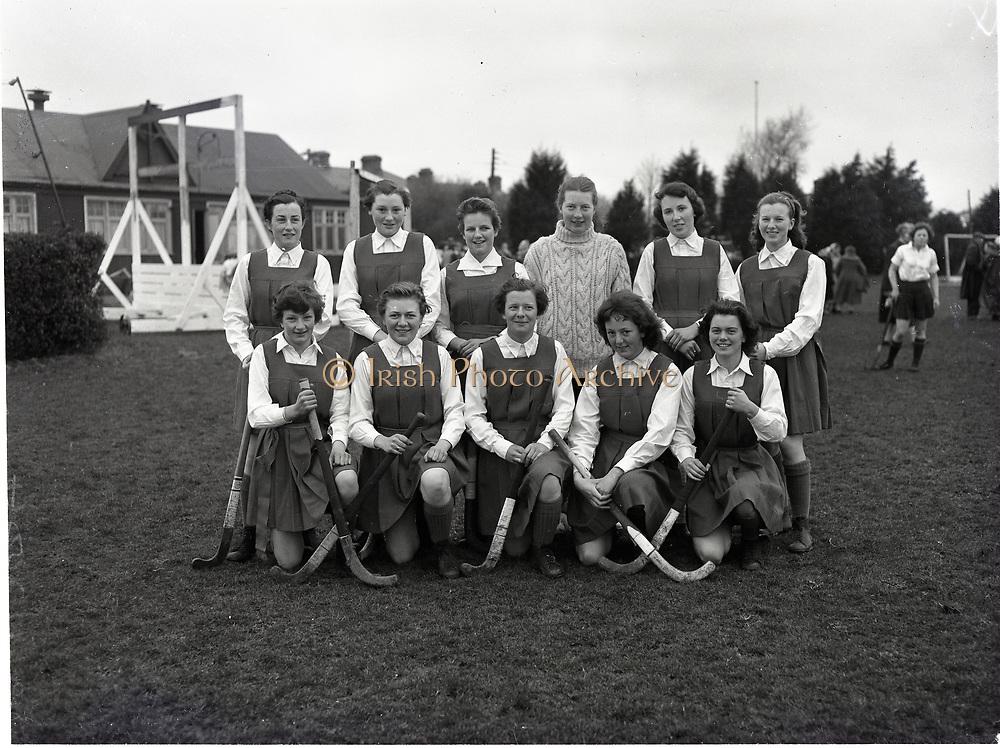 Hockey School Girls interprovincial Munster V Connacht 6-3-1959
