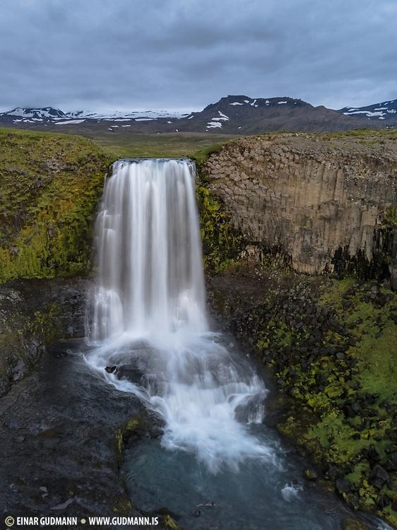 Svodufoss waterfall in Snæfellsnes, Iceland.