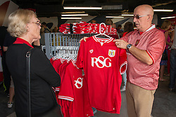 Fans look in the new club shop in the South Stand - Mandatory byline: Dougie Allward/JMP - 07966386802 - 15/08/2015 - FOOTBALL - Ashton Gate -Bristol,England - Bristol City v Brentford - Sky Bet Championship