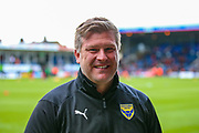 Oxford United Manager Karl Robinson  during the EFL Sky Bet League 1 match between Luton Town and Oxford United at Kenilworth Road, Luton, England on 4 May 2019.