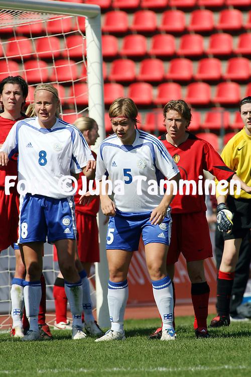 06.05.2006, Ratina, Tampere, Finland..Naisten MM-karsintaottelu Suomi - Belgia / FIFA Women's World Cup Qualifying match, Finland v Belgium..Tiina Salm?n - Finland.©Juha Tamminen.....ARK:k