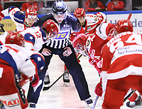 2020-02-12 | Ljungby, Sweden: Face off during the game between IF Troja / Ljungby and Huddinge IK at Ljungby Arena ( Photo by: Fredrik Sten | Swe Press Photo )<br /> <br /> Keywords: Ljungby, Icehockey, HockeyEttan, Ljungby Arena, IF Troja / Ljungby, Huddinge IK, fsth200212, ATG HockeyEttan, Allettan