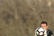 FUDBAL, BEOGRAD, 14. Nov. 2010. -  Golman Crvene zvezde Sasa Stamenkovic. Utakmica 12. kola Jelen Superlige Srbije (2010/2011) izmedju Rada i Crvene zvezde. Foto: Nenad Negovanovic