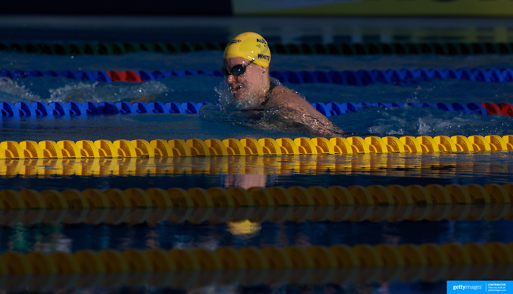 Tarnee White, Australia, in action in the Women's 100m breaststroke semi-final at the World Swimming Championships in Rome on Monday, July 27, 2009. Photo Tim Clayton.
