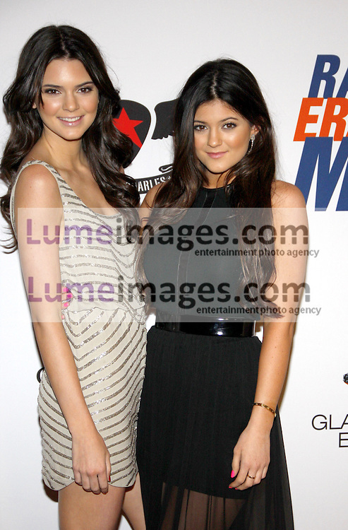 Kendall Jenner and Kylie Jenner at the 19th Annual Race To Erase MS held at the Hyatt Regency Century Plaza in Century City, USA on May 18, 2012.